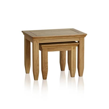 Bộ bàn xếp lồng Classic gỗ sồi