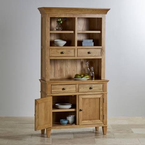 Tủ chén cao Classic nhỏ gỗ sồi
