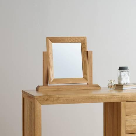 Gương để bàn Bevel gỗ sồi