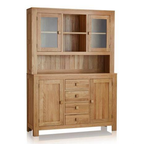 Tủ chén cao Oakdale lớn gỗ sồi