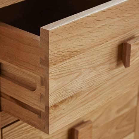 Tủ chén thấp Oakdale lớn gỗ sồi
