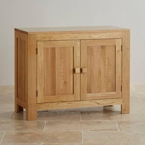 Tủ chén thấp Oakdale nhỏ gỗ sồi