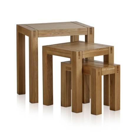 Bộ bàn xếp lồng Alto gỗ sồi