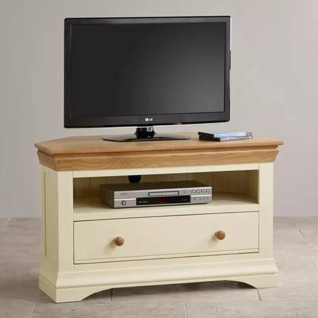 Tủ TV góc Country Cottage gỗ sồi