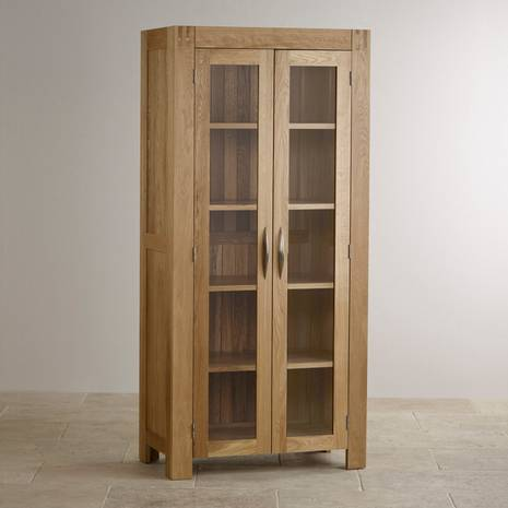 Tủ trưng bày 2 cánh kính Alto gỗ sồi