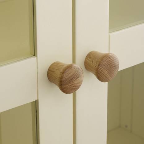 Tủ trưng bày 2 cánh kính Country Cottage gỗ sồi