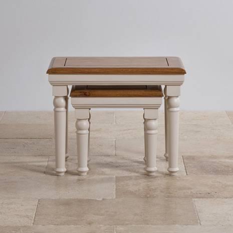 Bộ bàn xếp lồng Shay gỗ sồi
