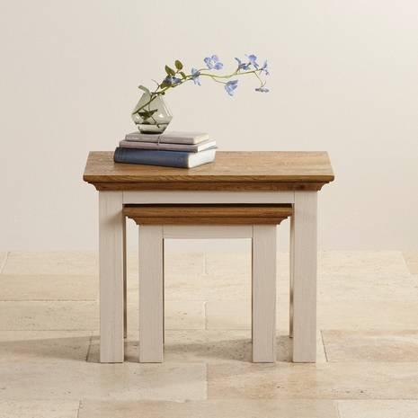 Bộ bàn xếp lồng Seychelles gỗ sồi