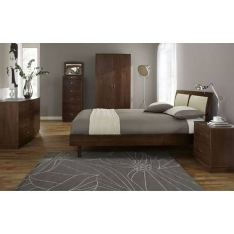 Giường đôi Como gỗ óc chó