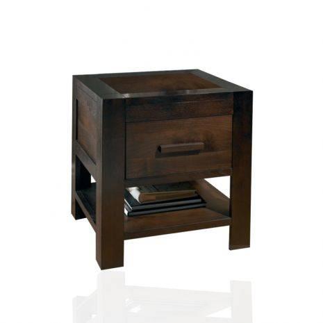 Tủ đầu giường 1 ngăn kéo Lyon gỗ óc chó