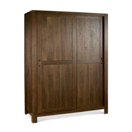 Tủ quần áo cửa lùa Lyon gỗ óc chó