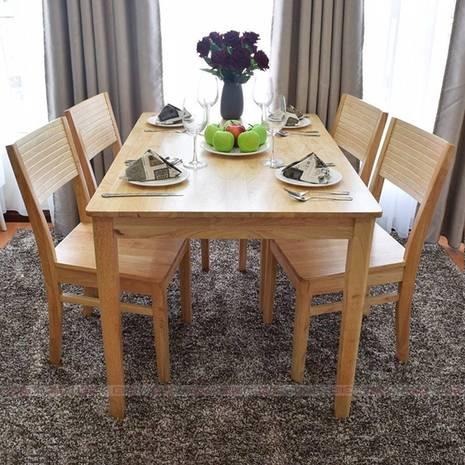 Bộ bàn ăn 4 ghế Gumi màu tự nhiên