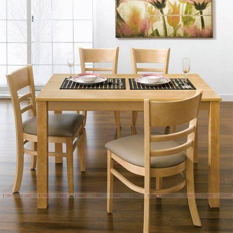 Bộ bàn ăn 4 ghế Ulsan màu tự nhiên