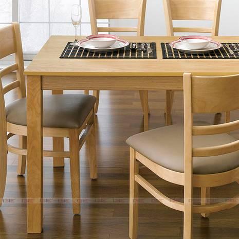 Bộ bàn ăn 4 ghế Ulsan màu tự nhiên 2