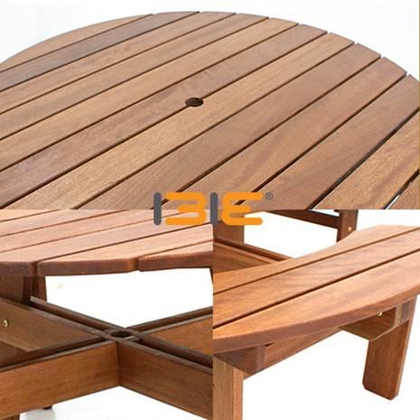 Bộ bàn tròn Bengkulu 8 chỗ