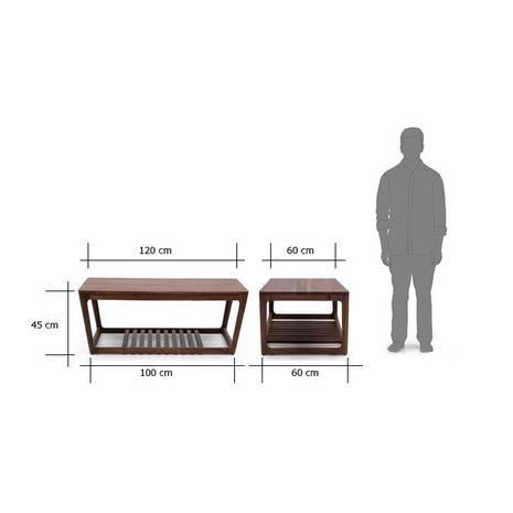 Kích thước bàn trà sofa Akita màu tự nhiên