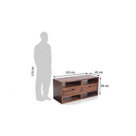 Kích thước ngoài Tủ kệ tivi Hyogo gỗ tự nhiên