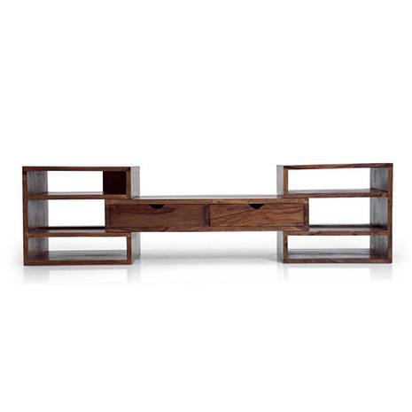 Tủ kệ tivi Hyogo gỗ tự nhiên - mở