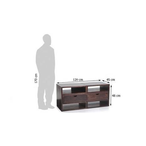 Kích thước ngoài Kệ tivi Hyogo gỗ nâu gụ