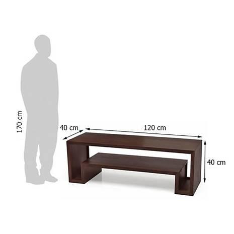 Kích thước ngoài Kệ Tivi Shiga màu gỗ tự nhiên