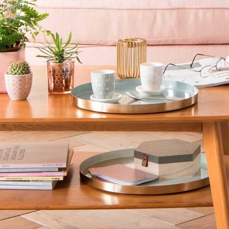 Bàn trà 0 ngăn Portobello phong cách Vintage gỗ tự nhiên