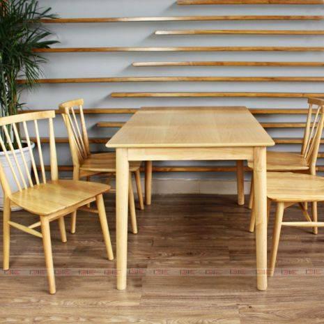 Bộ bàn ăn 4 ghế Requin màu tự nhiên