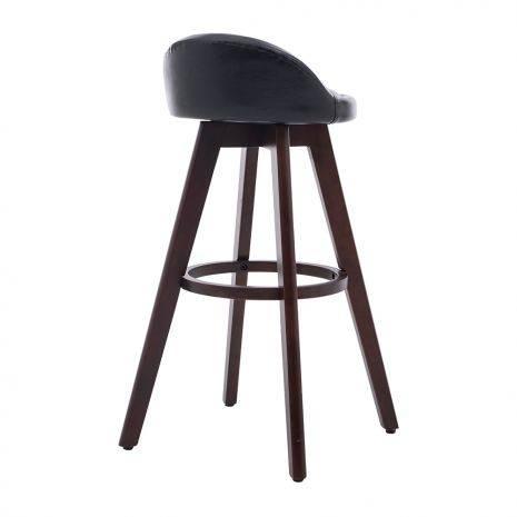 Ghế bar Alta bọc da PU chân thép sơn nhiệt giả gỗ