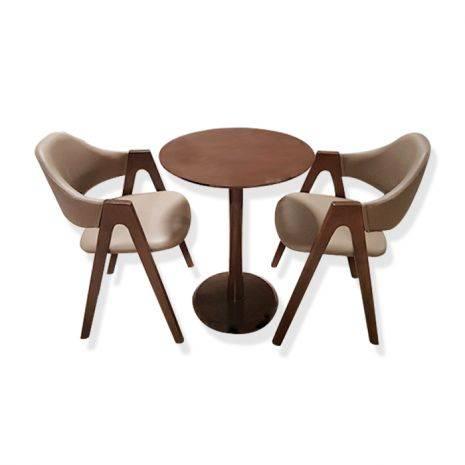 Bộ bàn tròn Como chân trụ 2-4 ghế Emma
