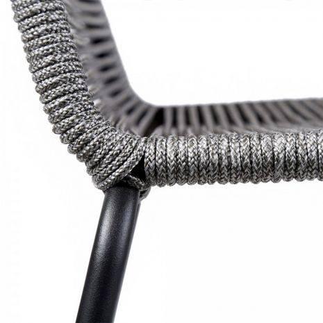 Ghế bar Shasta đan dây rope xám