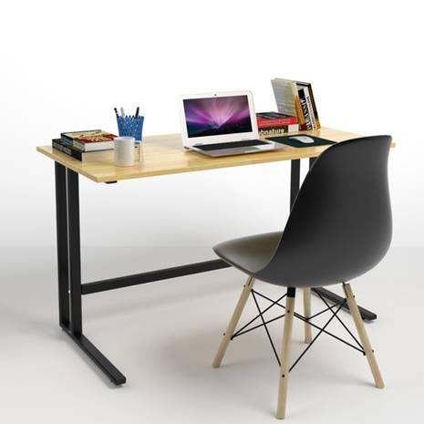 Bộ bàn Rec-U đen  và ghế Eames