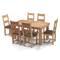 Bộ bàn ăn 6 ghế Victoria gỗ sồi