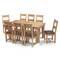 Bộ bàn ăn 8 ghế Victoria gỗ sồi