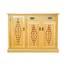 Tủ giầy 3 cánh chấm bi IBB31 gỗ sồi mái bằng