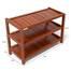 Kệ dép 3 tầng IB373 gỗ cao su màu cánh gián