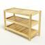Kệ dép 3 tầng IB373 gỗ cao su màu tự nhiên
