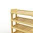 Kệ dép 5 tầng IB580 gỗ cao su màu tự nhiên