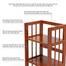 Kệ sách 5 tầng HB590 gỗ cao su màu cánh gián mô tả