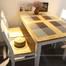 Bộ bàn ăn 4 ghế Gumi màu trắng