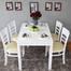 Bộ bàn ăn 4 ghế Ulsan màu trắng 2