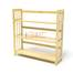 Kệ sách 3 tầng HB390 gỗ cao su màu tự nhiên