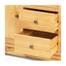 Tủ chén thấp 2 cánh 3 ngăn Victoria gỗ sồi