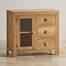Tủ trữ đồ Oakdale cánh kính gỗ sồi