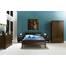 Giường đôi Capri gỗ óc chó